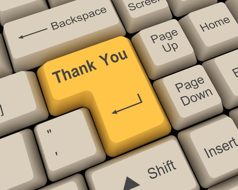 Gratitude is all about saying Thank You